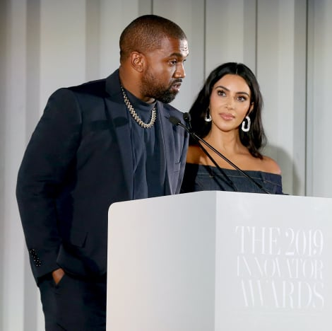 Kim Kardashian and Kanye in 2019