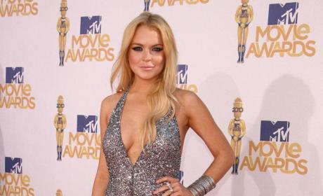 Lindsay Lohan in Silver