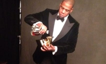 Jay-Z Drinks Cognac Out of Grammy Award ... Like a BOSS