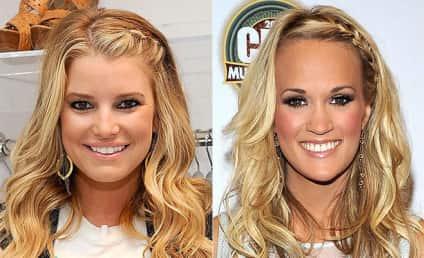 Celebrity Hairstyle Showdown: Jessica Simpson vs. Carrie Underwood
