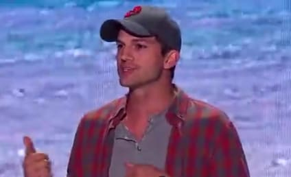 "Ashton Kutcher Wins ""Old Guy"" Teen Choice Award, Offers Life Advice"