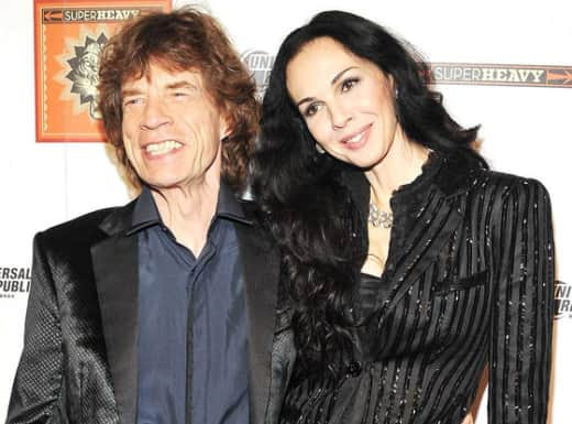 L'Wren Scott and Mick Jagger Photo