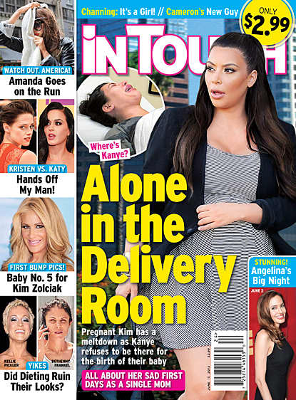 Kim Kardashian on In Touch Weekly