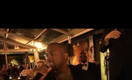 Kanye West Interrupts Wedding Speech Like It's the VMAs