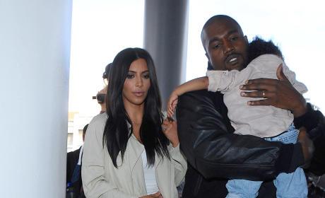 Kim Kardashian, Kanye and North West Photo
