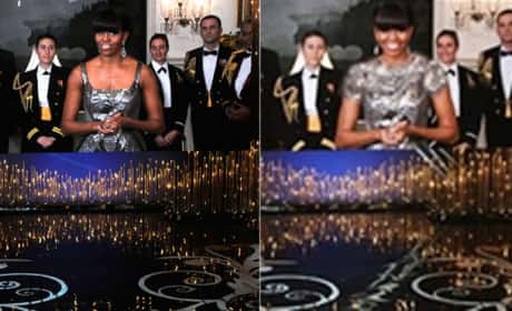 Michelle Obama Oscars Dress Photos