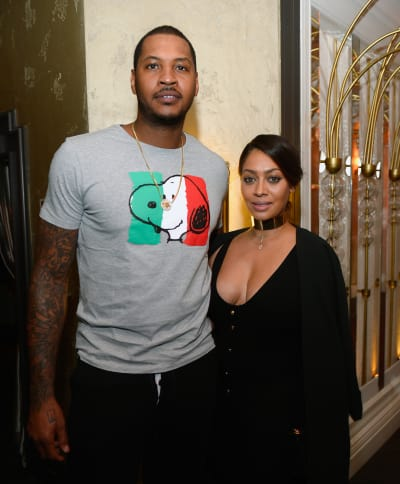 Carmelo Anthony with La La