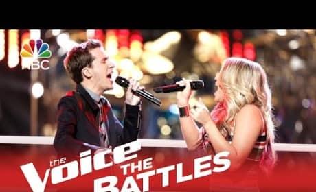 Evan McKeel vs. Riley Biederer (The Voice Battle Round)