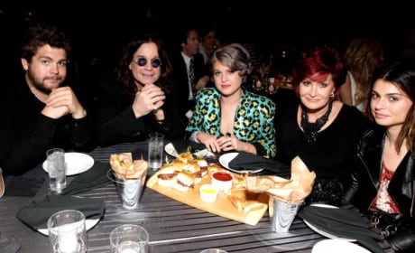 Jack, Ozzy, Kelly, Sharon and Aimee Osbourne