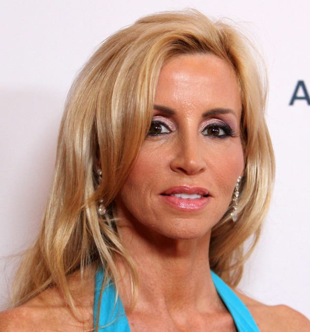 Camille Grammer in Blue
