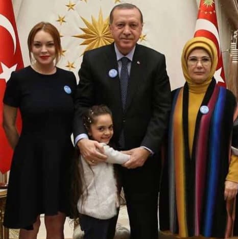 Lindsay Lohan With Erdogan