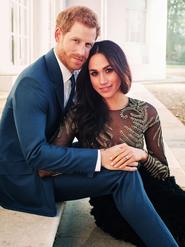 Prince Harry and Meghan Markle Engagement Pic
