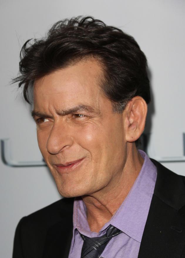 Charlie Sheen Up Close