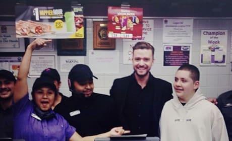 Justin Timberlake Taco Bell Stop
