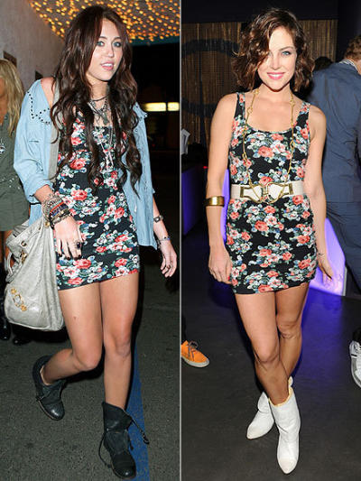 Miley Cyrus and Jessica Stroup