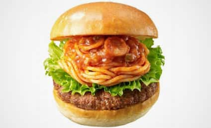 Spaghetti Burger: Actually for Sale in Japan!