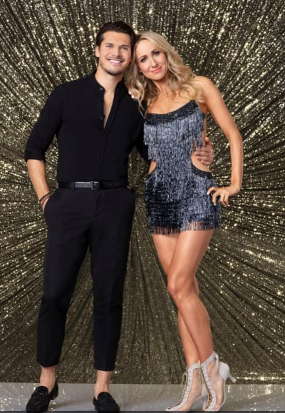 Nikki Glaser and Gleb Savchenko