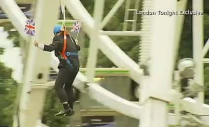 London Mayor Zip Line Snafu: Boris Johnson Stuck in Mid-Air at Olympics!