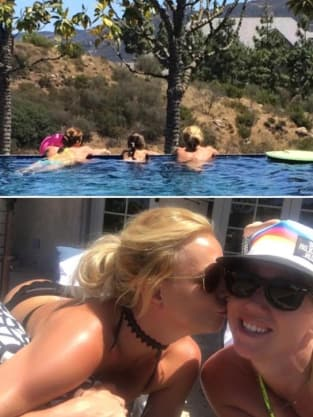 Britney Spears in a Pool