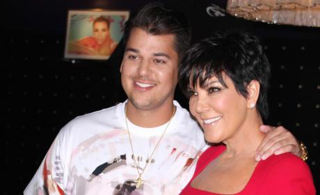Rob Kardashian and Kris Jenner