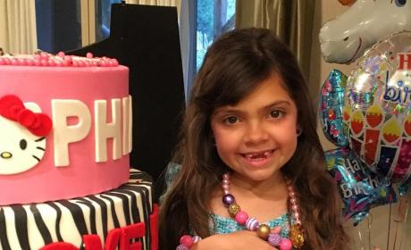 Sophia Abraham Shows off Her Birthday Jewelry