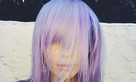 Ireland Baldwin Purple Hair