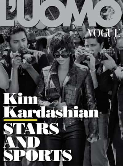 Kim Kardashian on L'Uomo Vogue Cover
