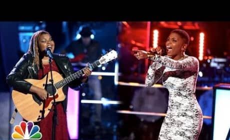 Stephanie Anne Johnson vs. Tamara Chauniece - The Voice Knockout