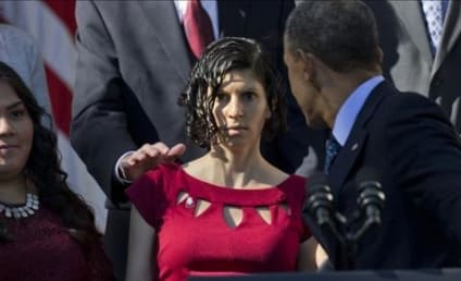 President Obama Stops Pregnant Woman From Fainting During Health Care Speech
