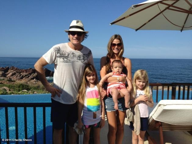 Charlie Sheen, Denise Richards and Kids