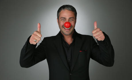 Taylor Kinney Red Nose Photo