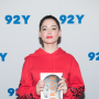 Rose McGowan with a Book