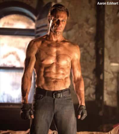 Aaron Eckhart in I, Frankenstein