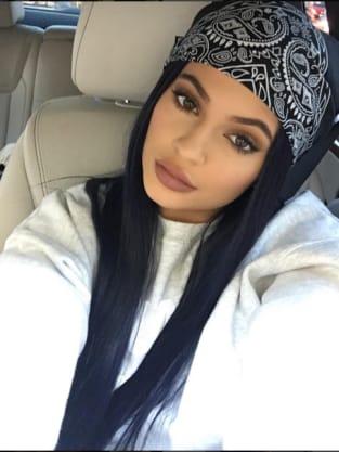 Kylie Jenner in a bandana