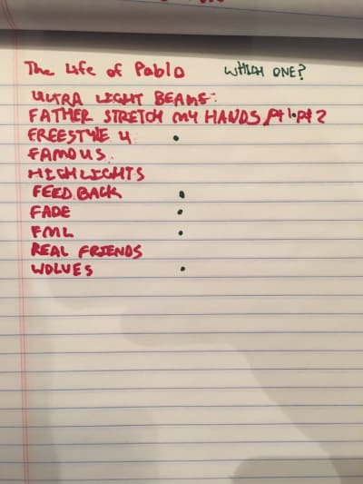 The Life of Pablo Tracklist