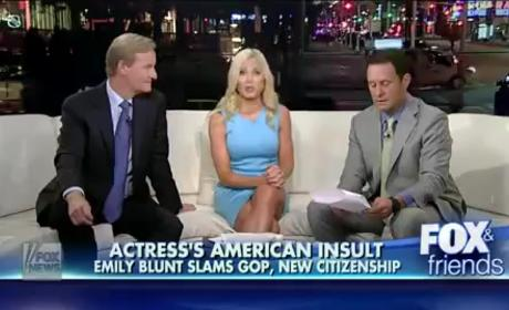 Emily Blunt Makes Fox & Friends Really Upset