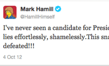 Mark Hamill on Mitt Romney: A Snake-Oil Salesman!