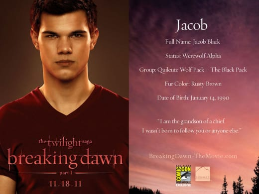 Jacob Black Character Card