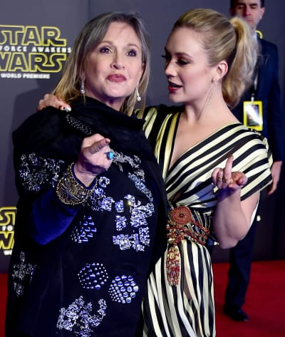 Carrie Fisher and Billie Lourd for Star Wars