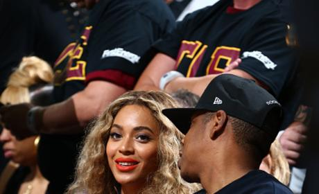 Beyonce And Jay Z at NBA Finals Game Six
