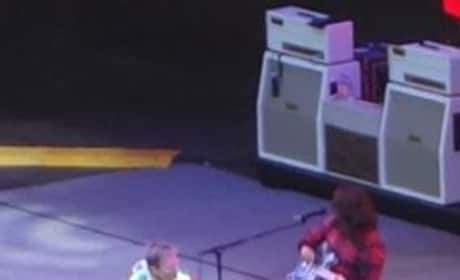 Dave Grohl Falls From Stage, Breaks Leg
