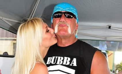 Hulk Hogan and Brooke Hogan Look-alike Still Hittin' it