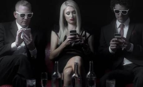 Paris Hilton in Drunk Text Video