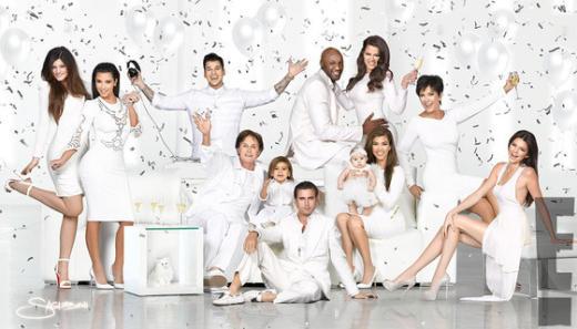 Kardashian Christmas Card, 2012