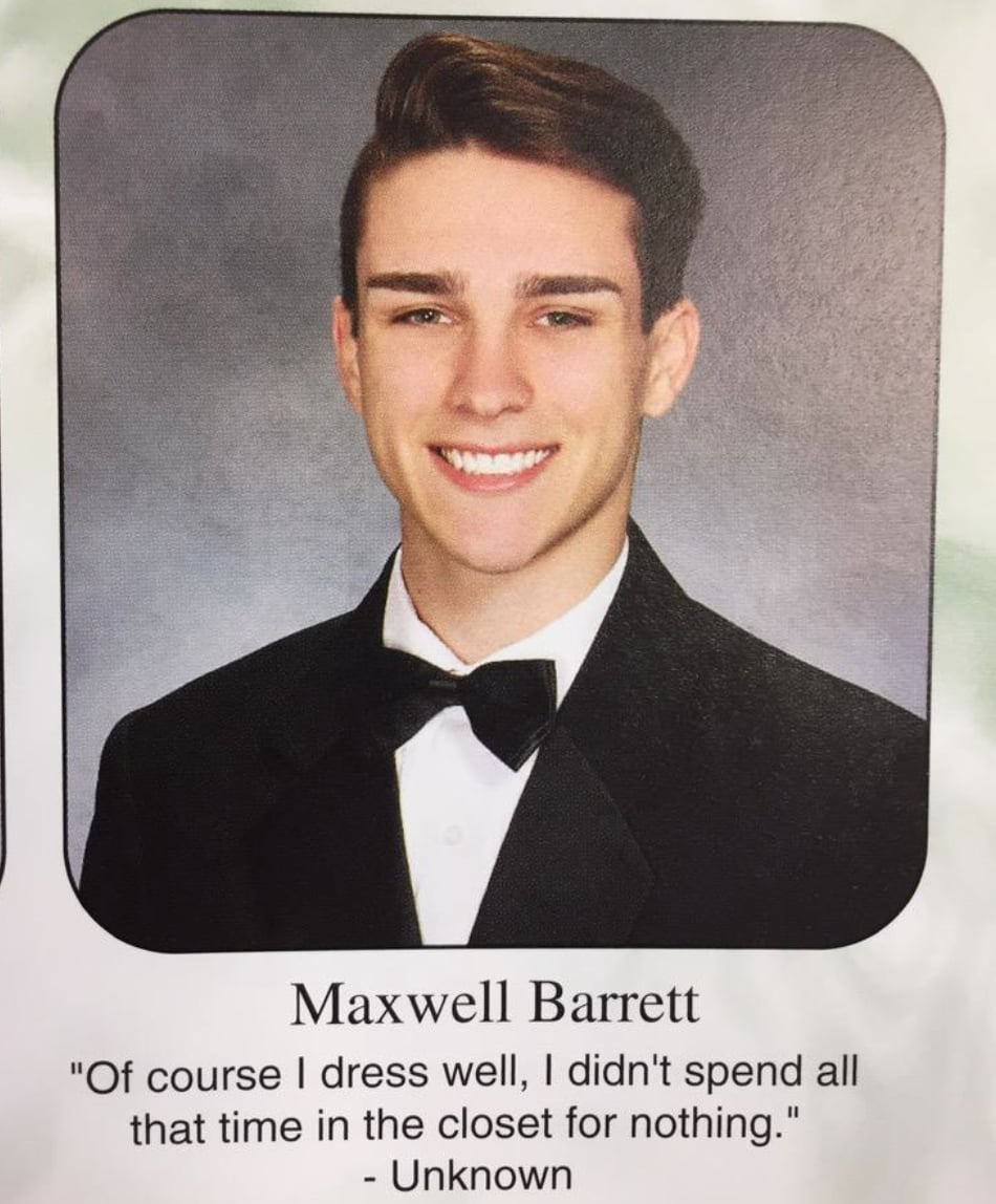 Senior Life Quotes Gay High School Student Leaves Hilarious Yearbook Quote  The