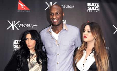 Kim Kardashian, Khloe Kardashiand Lamar Odom Launch Kardashian Kollection Handbags