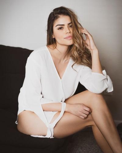 Fernanda Flores in White
