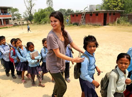 Selena Gomez with UNICEF