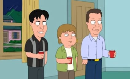 Charlie Sheen Appears on Family Guy