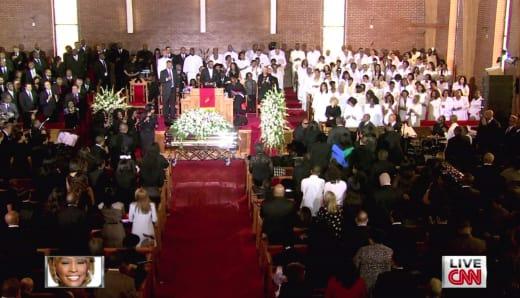 Whitney Houston Funeral Scene